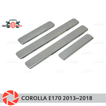 Пороги для Toyota Corolla E170 2013 ~ 2018 Шаг плиты внутренняя отделка Аксессуары защита потертости Тюнинг автомобилей украшения