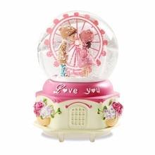 Muziekdoos Ballerina Karuzela Pozytywka Mechanism Muziek Snow Ball Boite A Musique Carousel De Musica Caja Musical Music Box