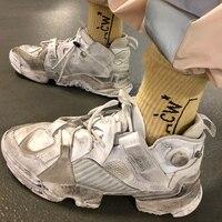 Женские кроссовки из натуральной кожи в старом стиле для подиума, повседневная обувь на шнуровке с круглым носком, кроссовки гладиаторы, ды