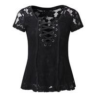 Summer Women Tops Chiffon Crochet Lace Vest Blouse Shirt Open Back Short Sleeve Shirt T Shirt