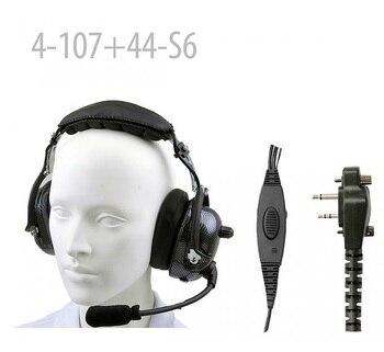 Carbon Fiber Pattern Heavy duty Noise Cancelling Headset for F11 F21 F14 F14S F24S F25 F33G F3Gs F43G F43TR IC-F3000 F3001 F3002