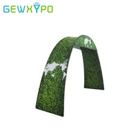 270cm Width 230cm Height Expo Booth Portable Arch Advertising Display Wall With Tension Fabric Printed Banner