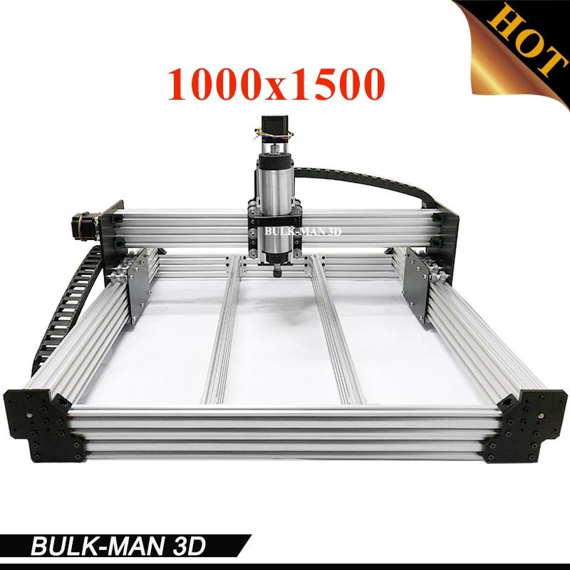 Trabajo CNC completo grabado máquina de trabajo máquina de enrutador CNC kit completo con husillo inversor electrónica Combos de 1000*1500mm