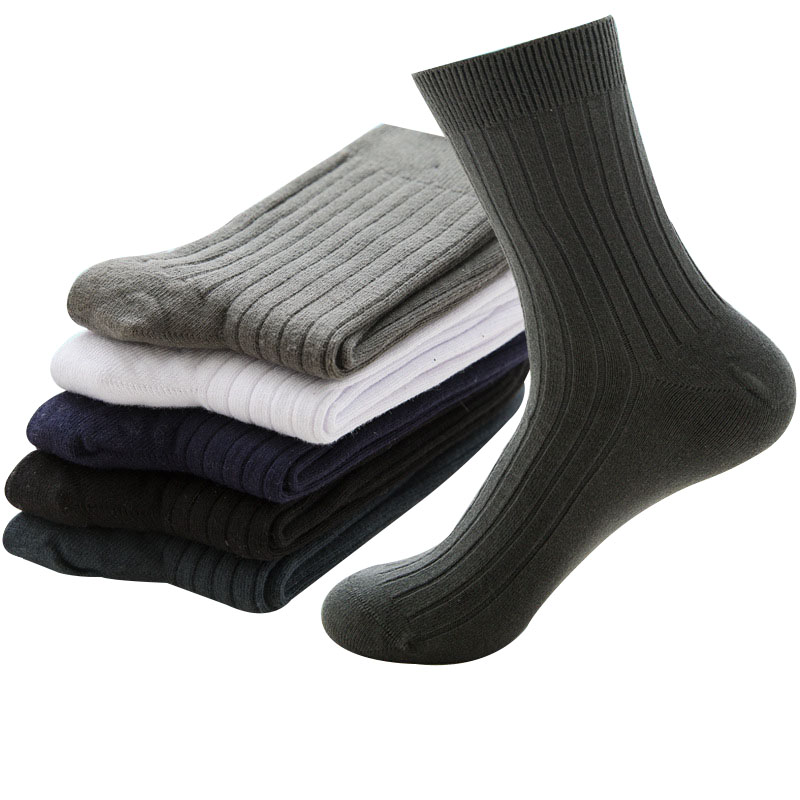 5pairs Health Pure Cotton Mens Socks Summer Autumn Breathable Soft Man Socks Casual Fashion Male Sock Deosorant Sox Meias Crew