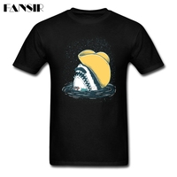 2017 New Trendy Tee Shirt Men S Short Sleeve Cotton Custom Funny Hat Shark Teenage Summer