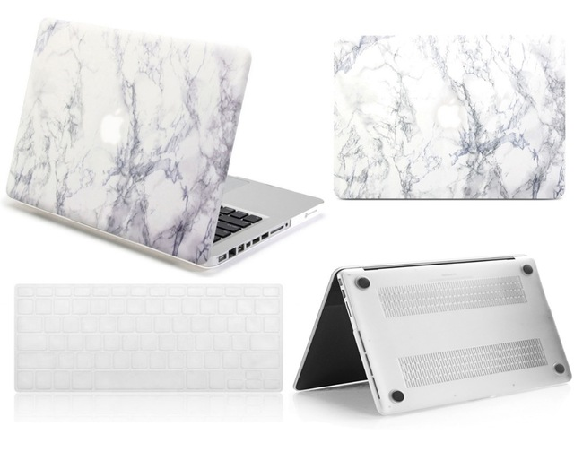 2019 New White Marble Hard Shell Case Keyboard Skin Cover For Apple Macbook Air Pro Touch Bar Retina 11