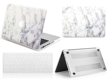 2019 New White Marble Hard Shell Case Keyboard Skin Cover For Apple Macbook Air Pro Touch Bar Retina 11″12″13″15″inchs Pouch