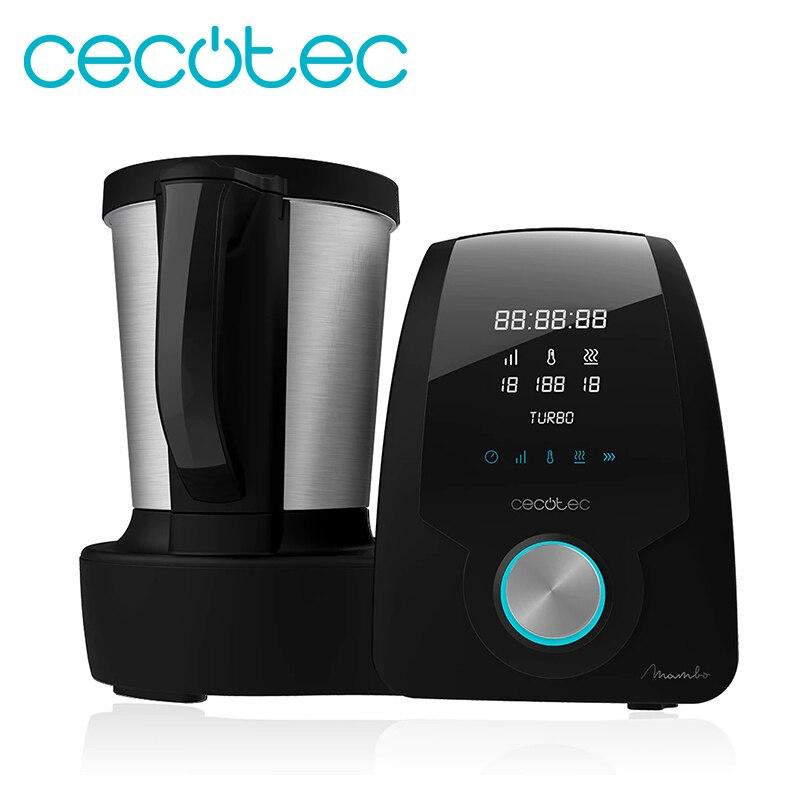 Cecotec Robot de Cocina Multifunción Mambo Black. Con 23 Funciones, palula Digital, Jarra de acero inoxydable de 3, 3l., 10