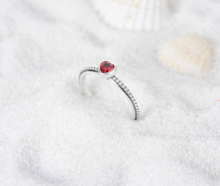 c4fb5065aa46f Suplush 100% 925 Sterling Silver Ring Love Heart Romantic Finger Ring For  Women Jewelry Red Pink White Engagement Ring SRI0024