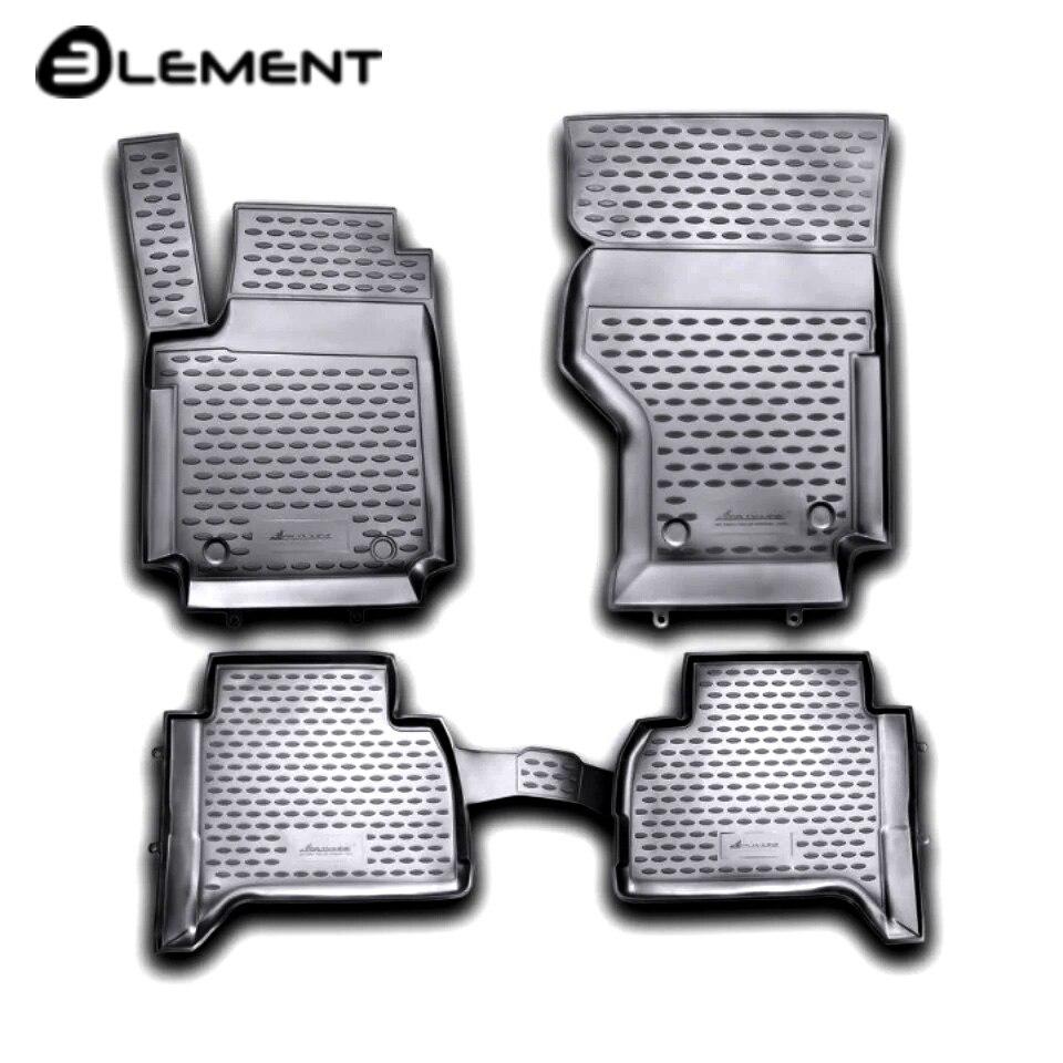 For Volkswagen Amarok 2010-2019 floor mats into saloon 4 pcs/set Element NLC5132210KH rubber floor mats for volkswagen amarok 2010 2018 seintex 83775