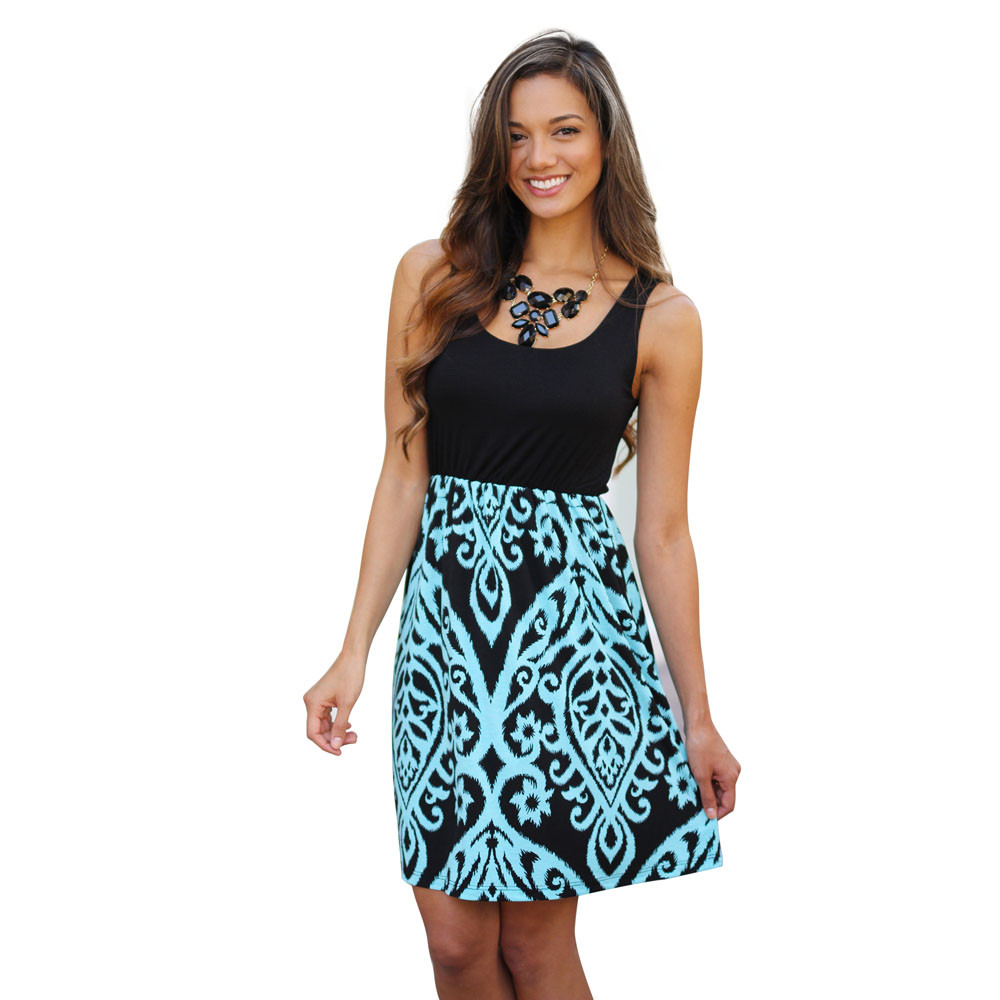 damask office accessories. New Fashion Summer Dress Sexy Women Damask Printed Sleeveless Evening Party Mini Club Casual Office Beach Dresses Vestidos-in From Women\u0027s Accessories