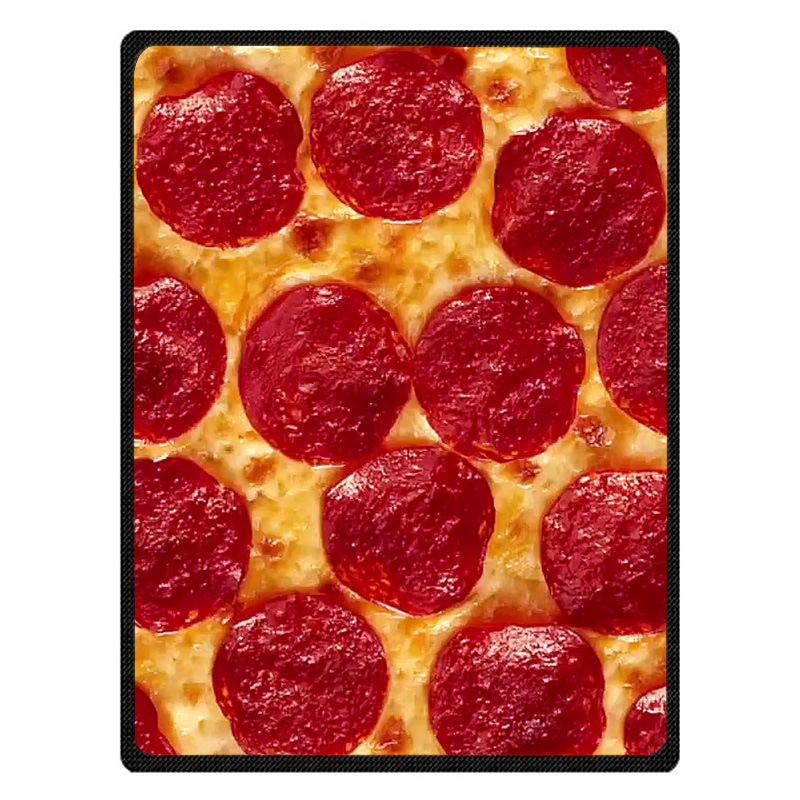 Cheese Pizza Throw Blankets Customized Blanket Manta Coral Flannel Blanket Sofa/Couch Bed/Plane Travel Foot Coverlet