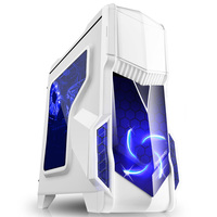 Segotep Mid Tower Computer Case Desktop PC Case Chassis ATX With Side Panel Window Micro ATX, ITX Computer Case 2 LED Fans