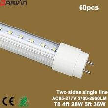 New style! Hot sale! T8 Led Tube Double Sides Tube 4ft 1200mm 28W 360 Beam Degree Super Bright daylight 6500k AC100-265V
