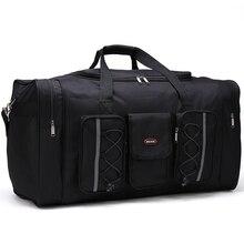 Мужские дорожные сумки многофункциональный Оксфорд черный мужчины путешествовать вещевой мешок 65 см большая емкость ручной клади мешок большой чемодан упаковочные кубики