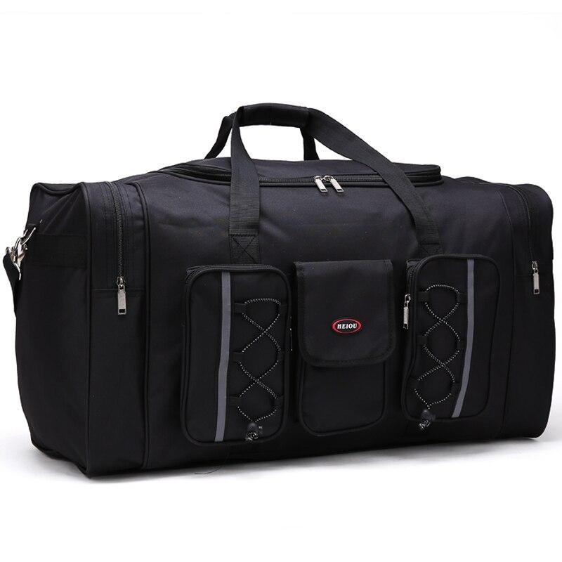 men travel bags Multifunctional Oxford black men travel duffle bag 65cm large capacity red hand luggage bag big travelbag