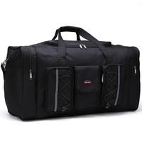 men travel bags Multifunctional Oxford black men travel duffle bag 65cm large capacity hand luggage bag big valise packing cubes