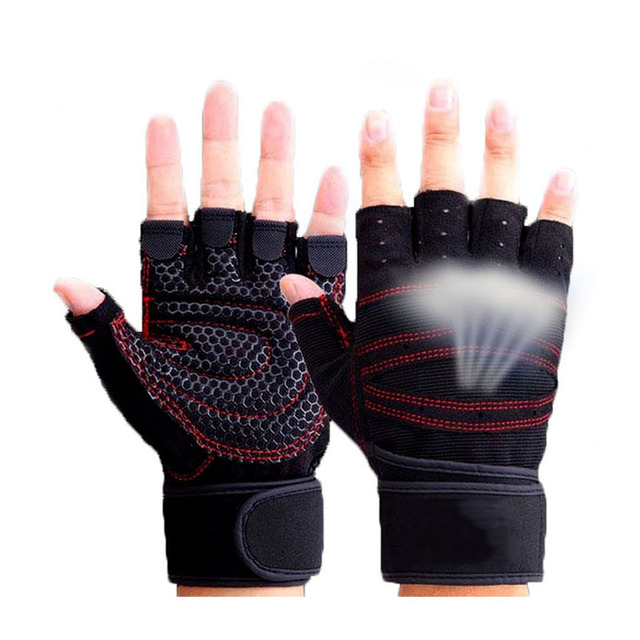כפפות הרמת משקל כפפות חדר כושר אצבע מחצית ספורט תרגיל במשקל כבד מבנה גוף הדרכה כפפות כושר ספורט