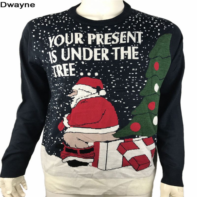 Funny Ugly Christmas Sweaters For Men And Women Knitted Naughty