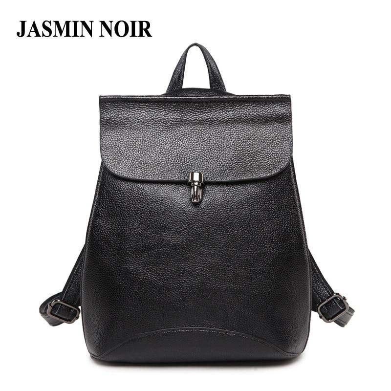 2018 New Genuine Leather Women Backpack Real Cow Leather Causal Bagpack School Bag For Teenage Girls Shoulder Bag Female Daypack