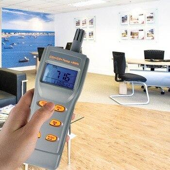 Medidor de cai de calidad del aire multifunción 6 en 1 con Software de CD y Cable CO2 y CO, RH %, temperatura, DP, WB, registrador de datos USB