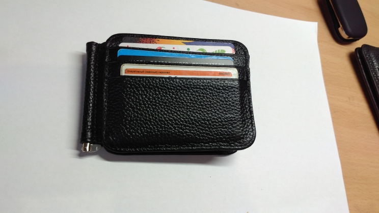 12 Card Slots Men Money Clips Fashion Boy Genuine Leather Money Clamp Male Magic Money Clip Wallet with ID Card Case photo review