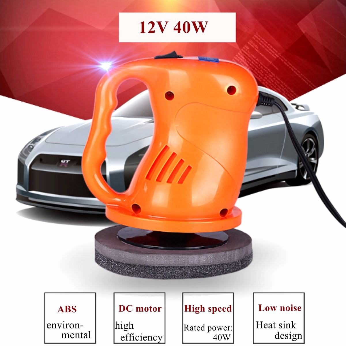 12V 36W Portable Auto Car Polishing Buffing Waxing Machine ABS Waxer/Polisher for Home and Outdoor