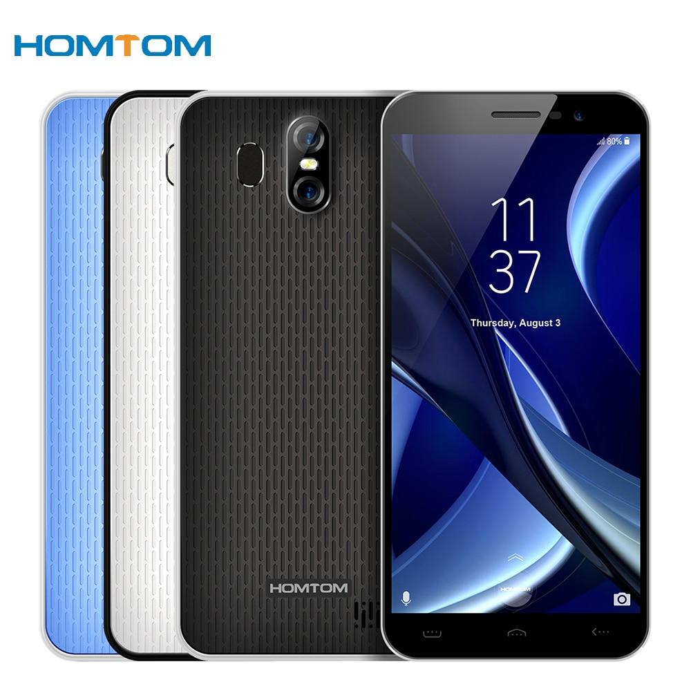 HOMTOM S16 Android7.0 Smartphone 5.5 inch 18:9 Edge-Less Display 3000mAh 2GB 16GB MT6580 Quad Core 13MP Fingerprint Cellphone