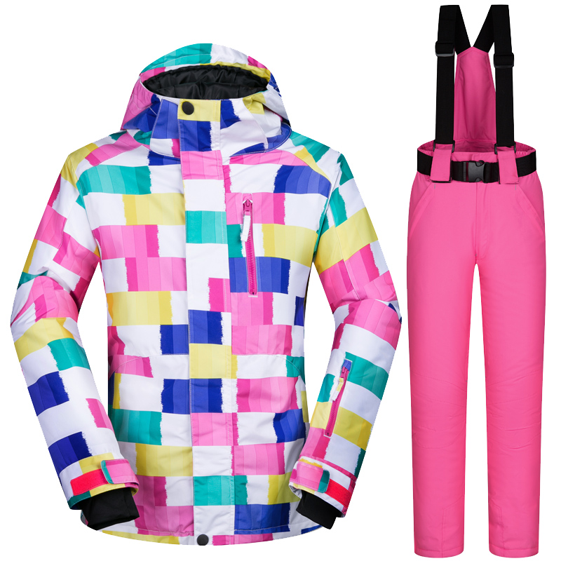 Marques Femmes Ski Vestes Et Pantalons De Plein Air Vestes de Snowboard Neige Imperméable À L'eau Chaude Veste Femmes Ski Et Snowboard Costumes