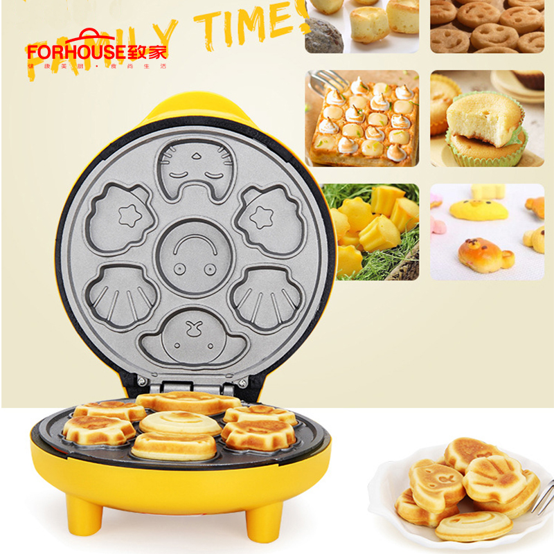 Mini Electric Waffle Mold Maker Pancake Machine Portable