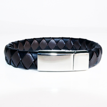 Braided Leather Bracelet For Men Women Charm Stainless Steel Jewelry 041