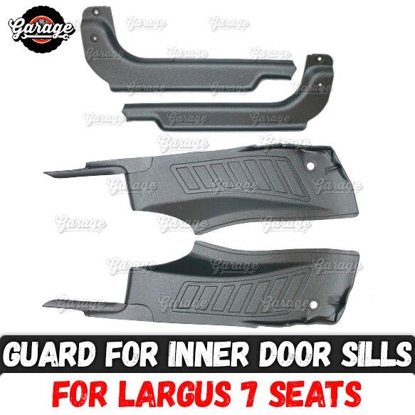 Guard Of Inner Door Sills For Lada Largus 2011 Abs Plastic