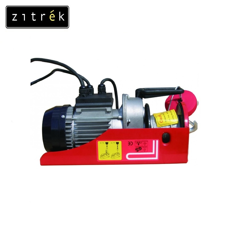 Tal electric stationary PA-1000 H = 12 / 6 m Zitrek Crane pulley Electric chain hoist Fixed hoist Lifting load цена
