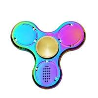 Hot Selling Bluetooth Fidget voor Kinderen Volwassen LED Regenboog Vinger Handspinner Glow in The Dark Figet Spinner