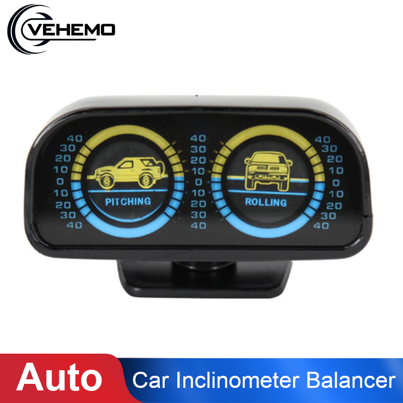 Auto Car Inclinometer Balancer Slope Balancer Car Compass Balance Meter Balancing Instrument Gauges Indicator Pitching & Rolling