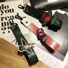 19 см сумке кошелек плечевой ремень ручка цветок Вышивка поясная сумка моды DIY Съемный Замена мешок руки 3 цвета