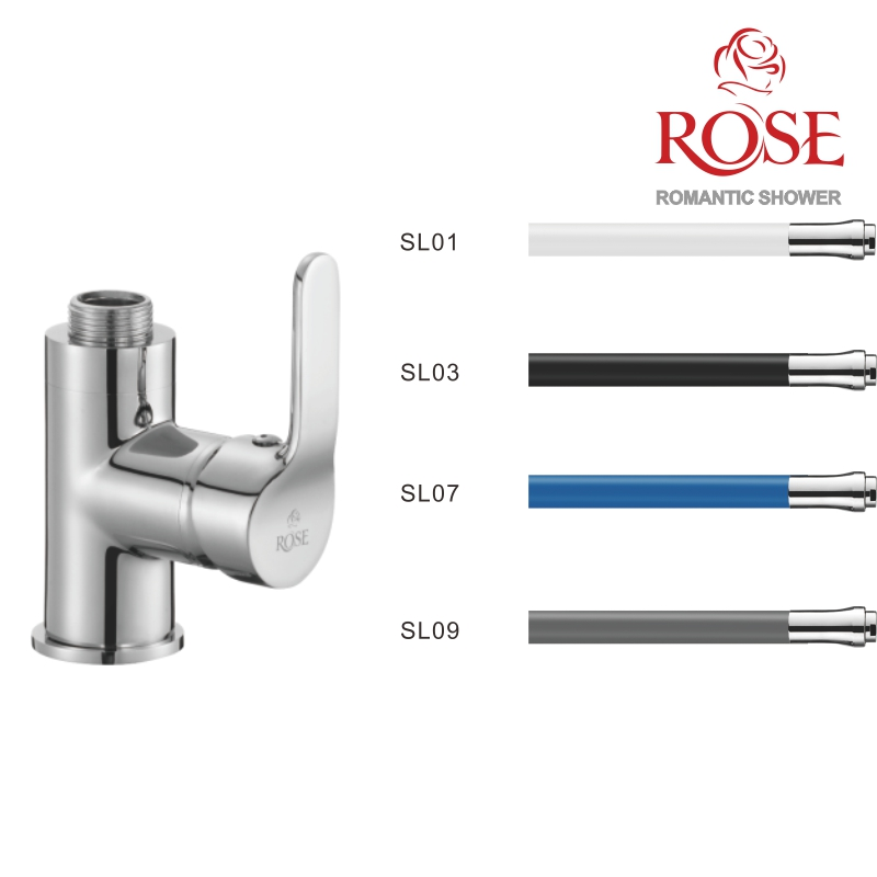 ROSE Set Kitchen Faucet With Nut And Movable Spout Faucet Kitchen With Flexible Spout, Faucet For Water Kitchen,flexible Faucet Kitchen Set Kitchen, Set Faucet And Flexible Spout,tap For Cold And Hot Water