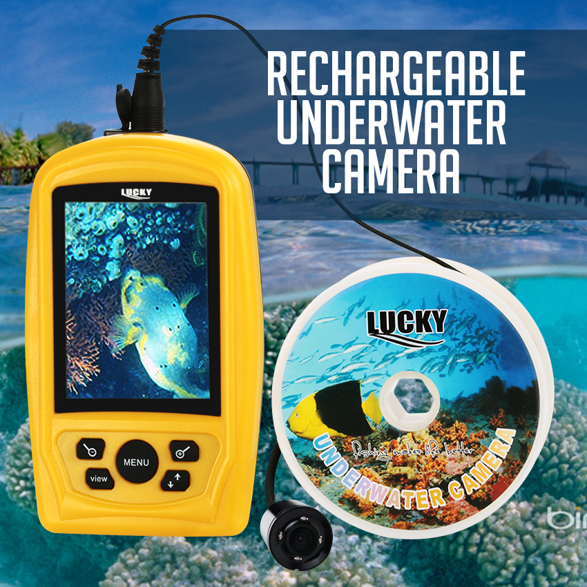 FF-3308-8 Portable Underwater LUCKY Fishing and Inspection Camera Rechargeable  Battery CMD Sensor PAL/NTSC 20M Cable EYOYO