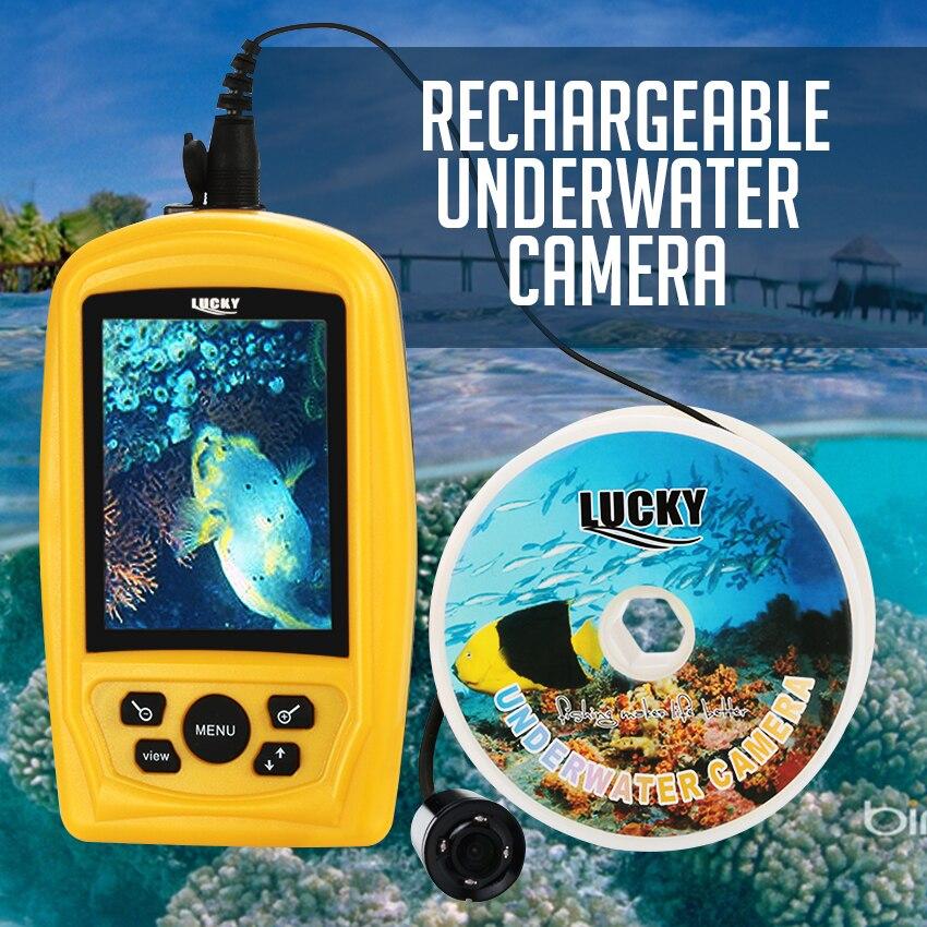 FF-3308-8 Portatile Subacquea Pesca FORTUNATA e Macchina Fotografica di Controllo Batteria Ricaricabile CMD Sensore PAL/NTSC 20 M di Cavo