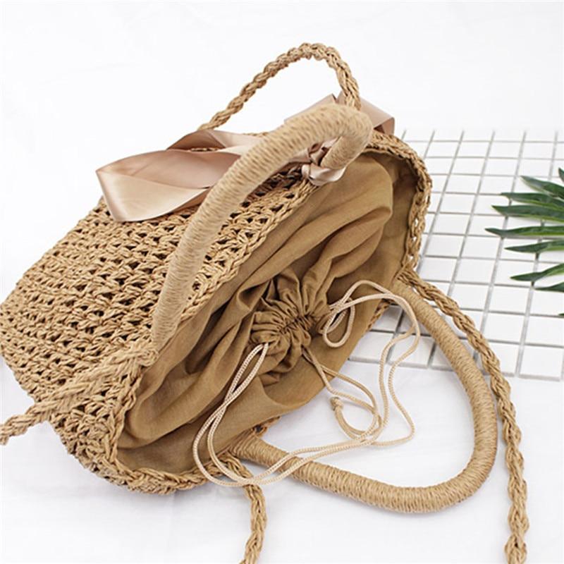 Osmond Ribbon Bowknot Straw Tote 2017 Bohemian Summer Beach Handbag - Պայուսակներ - Լուսանկար 5