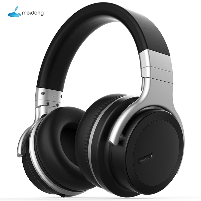 Meidong E7MD PRO headset Bluetooth active noise canceling headphones music wireless phone subwoofer headset-in Bluetooth Earphones & Headphones from Consumer Electronics