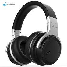 Meidong headset bluetooth e7md pro, fone de ouvido com cancelamento de ruído ativo, música, sem fio, subwoofer