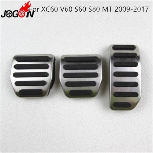 Для Volvo XC60 S60 V60 S80 XC90 S90 V90 XC40 V40 S40 C30 газовый топливный ускоритель сцепления педаль тормоза Накладка на MT - Название цвета: 09-17 XC60 MT