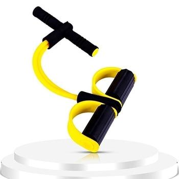 El stica de Fitness Sit Up Pull Rope Exercitador Abdominal Casa Profissional Equipamento de Esporte
