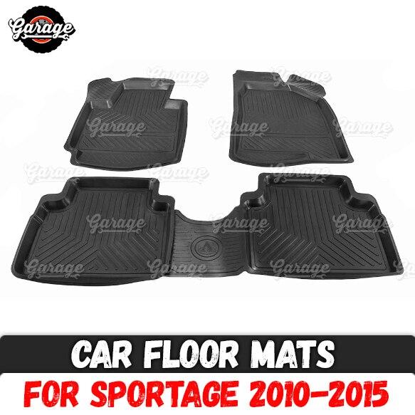Car Floor Mats For Kia Sportage 2010-2015 Rubber 1 Set / 4 Pcs Or 2 Pcs Accessories Protect Of Carpet Car Styling Interior
