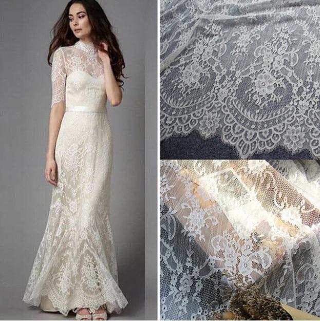 3 M/ Lot Exquisite Eyelash Lace Fabric White Black Handmade Diy Curtain Decorative 150CM Wide Clothes Accessories