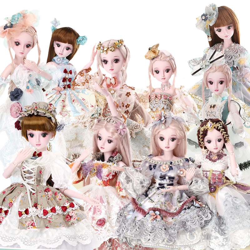 DEME DOLLS 1/3 BJD SD Girls Doll 19 Ball Jointed Toys With All Outfits Makeup Children Dressup DIY Dolls ucanaan 1 3 bjd dolls beauty sd doll 19 ball jointed with full outfits makeup dressup dolls children toys for girls
