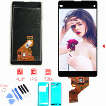 100% Оригинальные ЖК для Sony Xperia Z1 Мини Компактный D5503 M51W ЖК-дисплей Дисплей Сенсорный экран планшета сборки + клей + Ремонт Инструменты