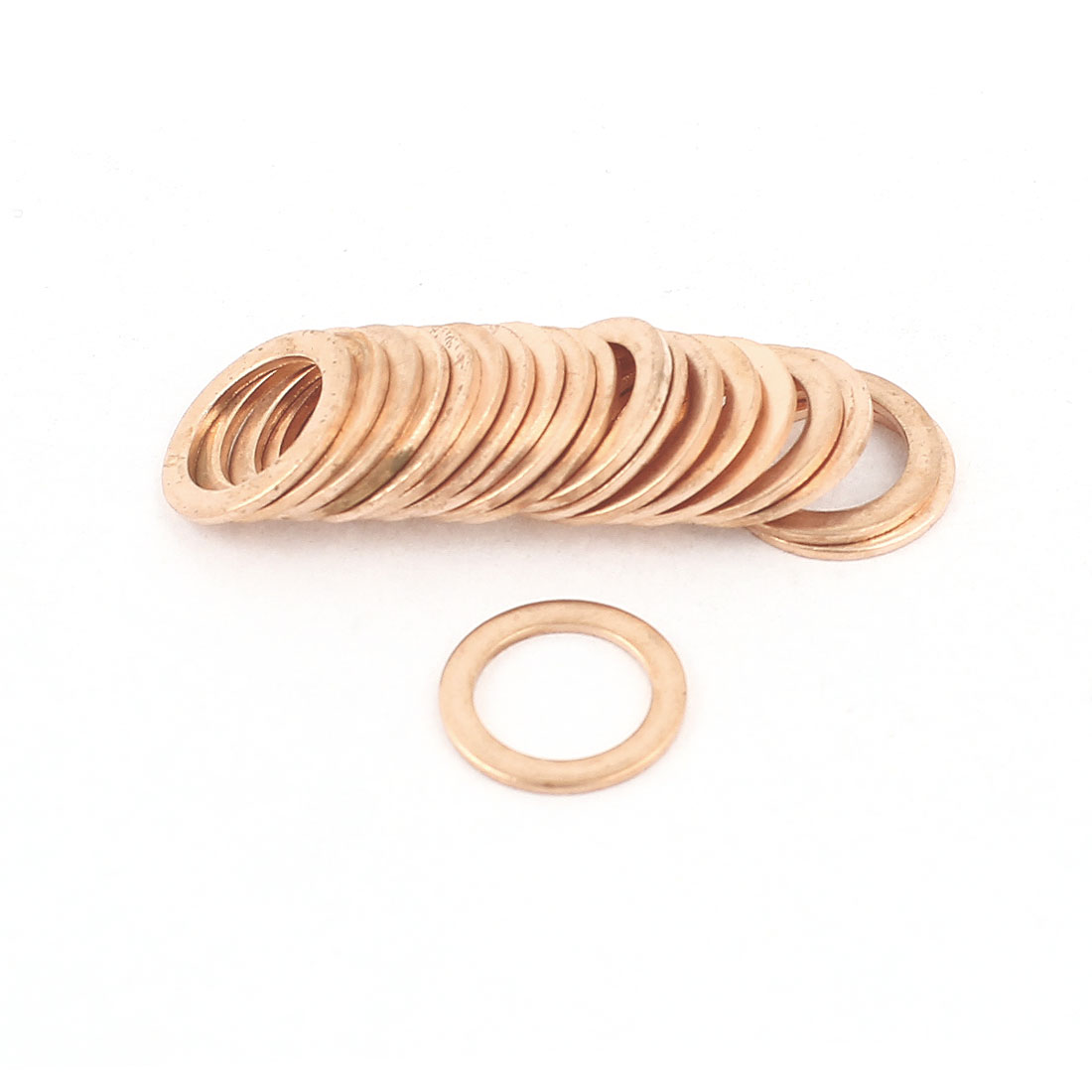 UXCELL 20 Pcs/lot 10Mm X 14Mm X 1Mm Copper Flat Washer Gasket Spacer Seal Fitting Copper Washers Fastener rc car spacer washer flat head gasket aluminum black 6 x3 5mm spacer washers top quality free shipping 10pcs lot