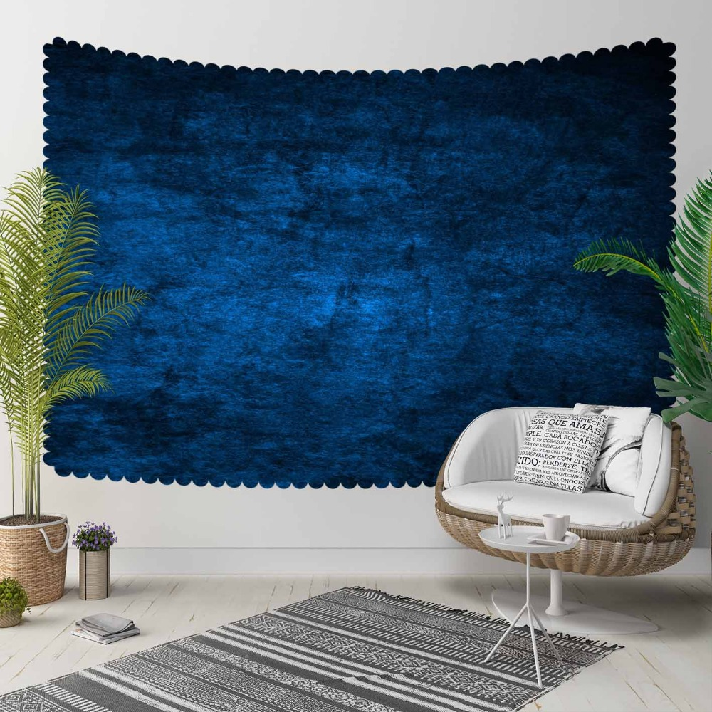 Else Blue Vintage Abstract Watercolor Aging Shine 3D Print Decorative Hippi Bohemian Wall Hanging Landscape Tapestry Wall Art